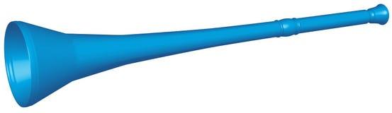 蓝色vuvuzela 免版税库存照片