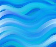 蓝色wavey 库存图片