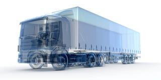 蓝色X-射线卡车 免版税库存图片