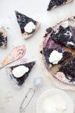 蓝草莓饼 免版税图库摄影