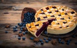 蓝草莓饼 免版税库存图片