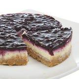 蓝莓乳酪蛋糕点心 图库摄影