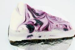 蓝莓乳酪蛋糕 免版税库存照片