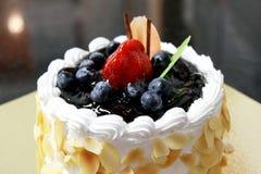 蓝莓乳酪蛋糕 免版税库存图片