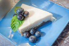 蓝莓乳酪蛋糕 库存照片