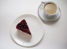 蓝莓乳酪蛋糕07 库存照片
