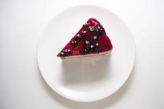 蓝莓乳酪蛋糕02 免版税库存照片