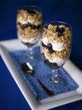蓝莓健康快餐 图库摄影