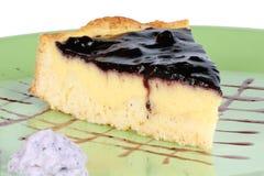 蓝莓和乳蛋糕奶油色馅饼 免版税图库摄影