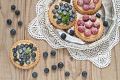 蓝莓和莓果子馅饼 免版税库存照片