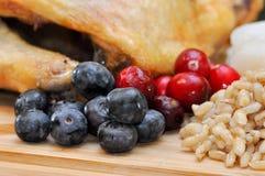 蓝莓和蔓越桔 免版税图库摄影