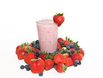 蓝莓圆滑的人草莓 库存图片