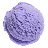 蓝莓奶油色冰瓢 免版税库存图片