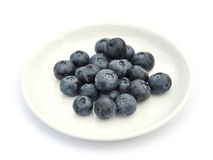 蓝莓断送白色 库存图片