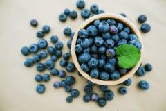 蓝莓果子新鲜抗氧剂食物 库存照片