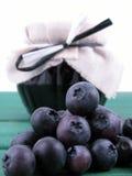 蓝莓果酱 免版税库存照片