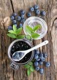 蓝莓果酱 免版税图库摄影