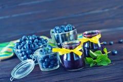 蓝莓果酱 图库摄影