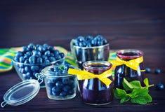 蓝莓果酱 库存图片