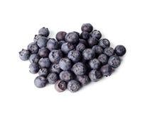 蓝莓查出的白色 免版税库存图片