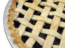 蓝莓格子饼顶层 免版税库存照片
