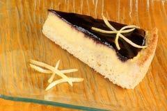 蓝莓橘子果酱和乳蛋糕奶油色馅饼 图库摄影