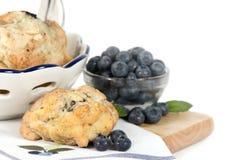 蓝莓水平的烤饼 免版税库存图片