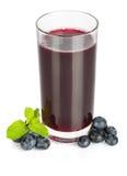 蓝莓汁 免版税库存图片