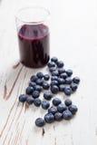 蓝莓汁 图库摄影
