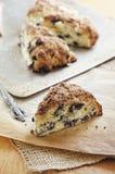 蓝莓烤饼 免版税图库摄影