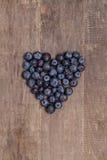 蓝莓的心脏 免版税库存图片