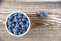 蓝莓碗 库存图片