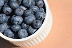 蓝莓碗 免版税库存图片