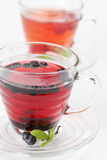 蓝莓莓茶 免版税图库摄影