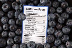 蓝莓营养事实  免版税库存图片