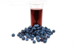 蓝莓蓝莓汁 库存照片