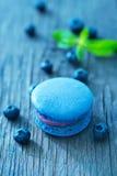 蓝莓蛋白杏仁饼干 库存照片