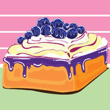 蓝莓蛋糕设计 库存图片