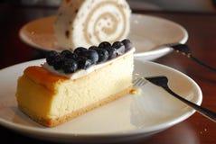 蓝莓蛋糕 免版税库存照片