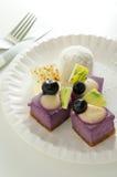 蓝莓蛋糕 库存图片