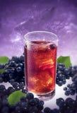 蓝莓饮料冰 免版税库存图片