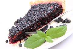 蓝莓馅饼 免版税库存图片