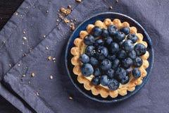 蓝莓馅饼 免版税库存照片