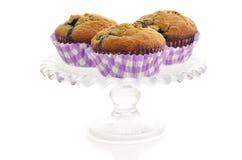蓝莓香蕉松饼 免版税库存图片