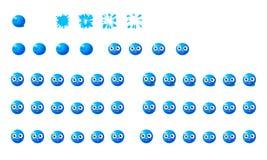 蓝莓魍魉飞溅 库存照片