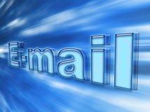 蓝蓝明亮的连接数电子邮件 库存图片