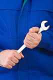 蓝领工人。 免版税图库摄影