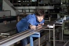 蓝领织品工作 免版税图库摄影