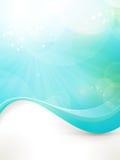 蓝绿色波浪设计 库存照片