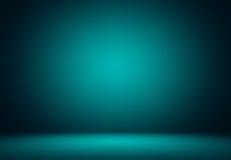 蓝绿色演播室背景 库存图片